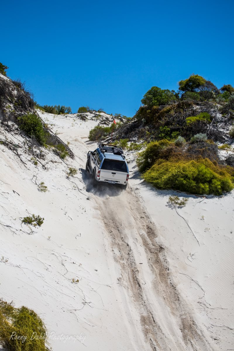 Holden Rodeo on beach track.