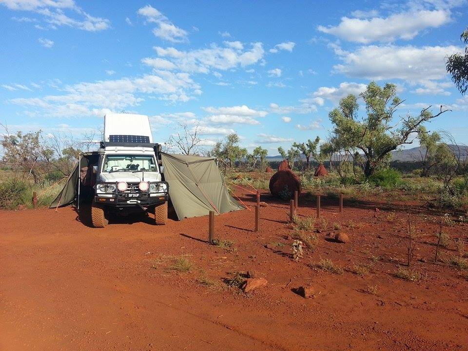 The Troopy in the outback.
