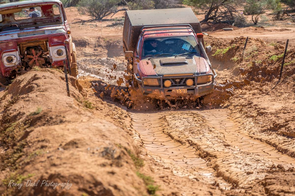 Nissan Patrol in the Outback.