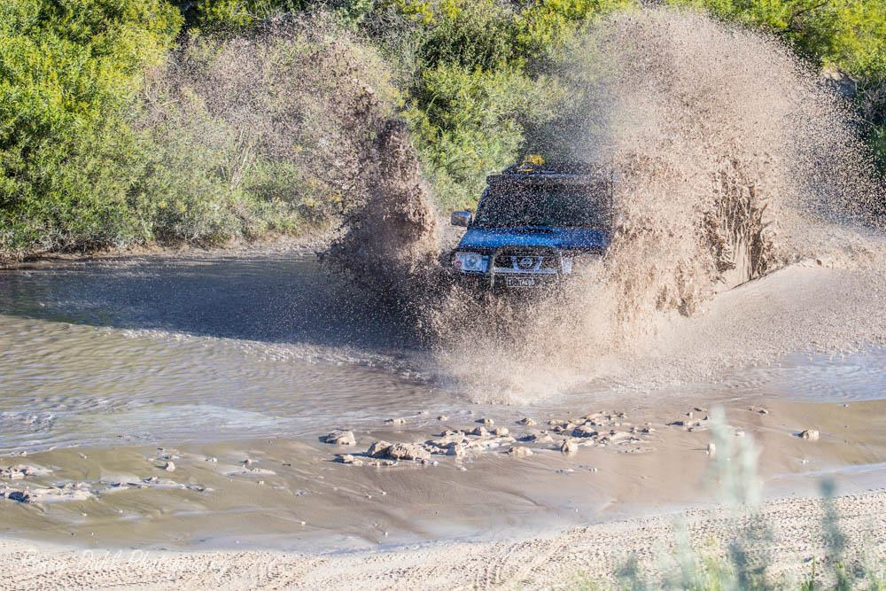 Nissan Navara D22, in mud.