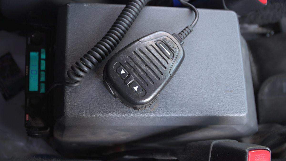 The UHF Radio.