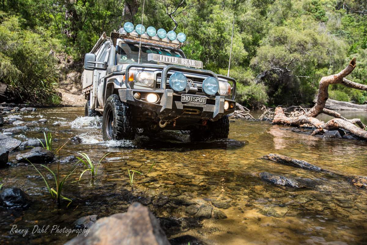 River crossing in Warren National Park.