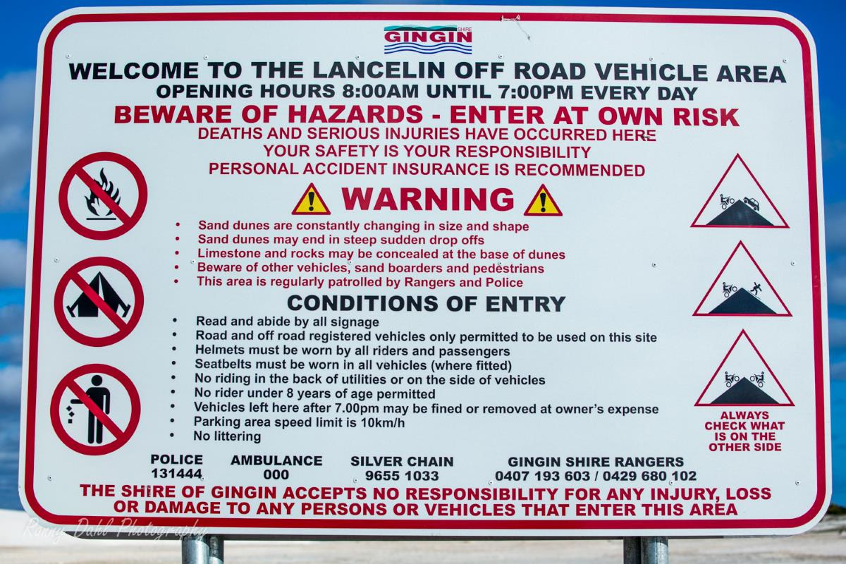 Lancelin Off Road Rules.