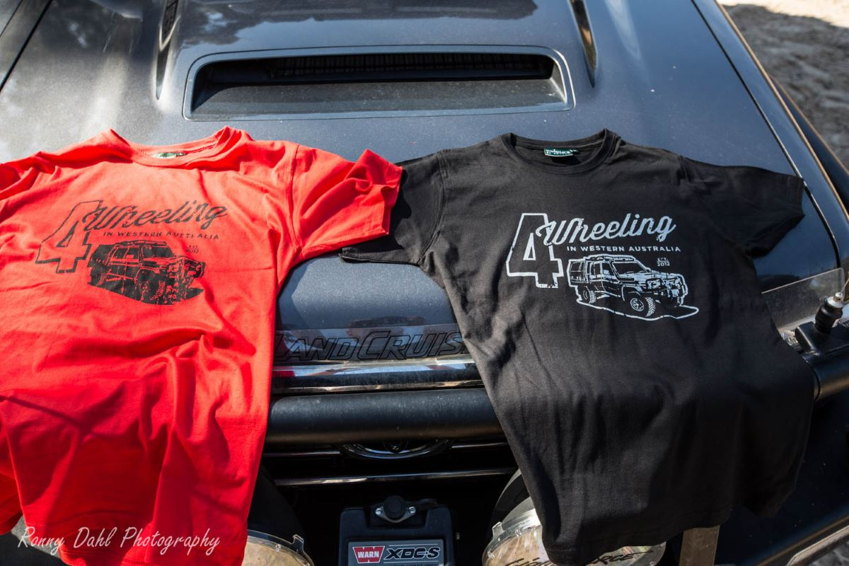 Fitted Tee's, 4 Wheeling in Western Australia.