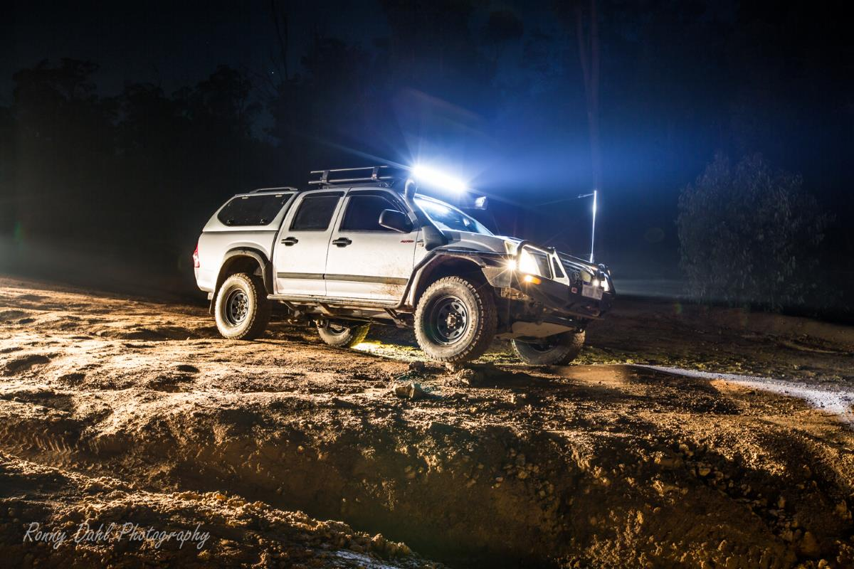 Holden Rodeo in the night.