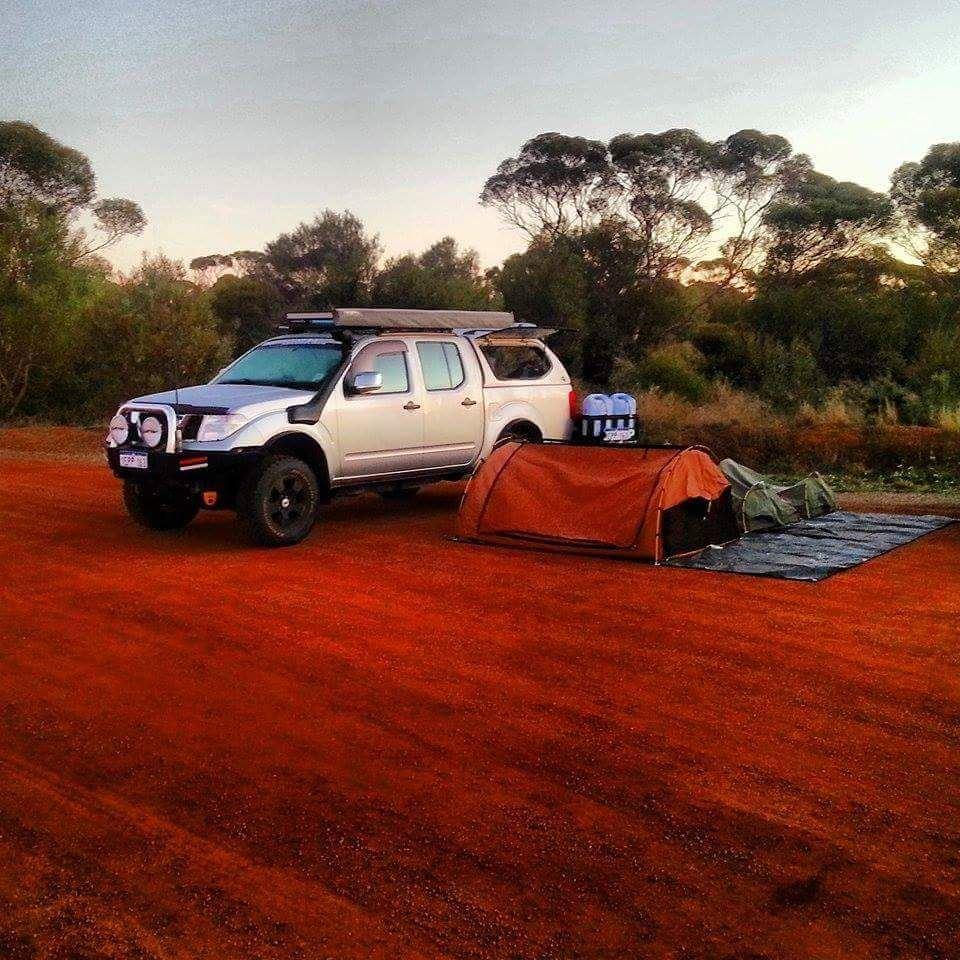 Camping in a Nissan D40 Navara.