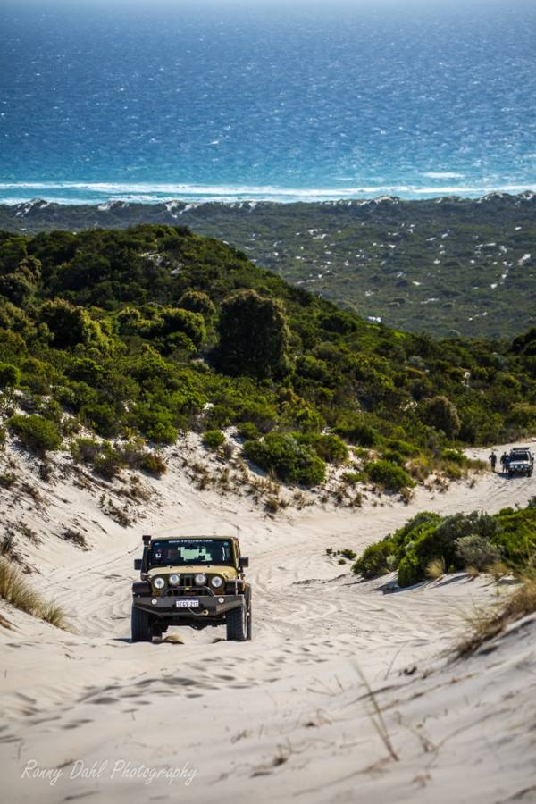 Jeep Wrangler on Callcup Hill, Western Australia.
