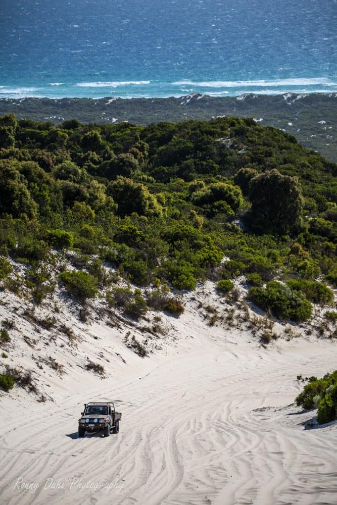 Toyota Land Cruiser on Callup Hill. Western Australia.