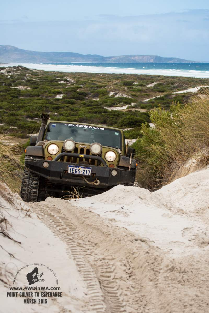 Jeep Wrangler JKU at Hammer Head, Western Australia.