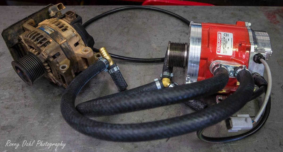 Rapid Power water cooled alternator .