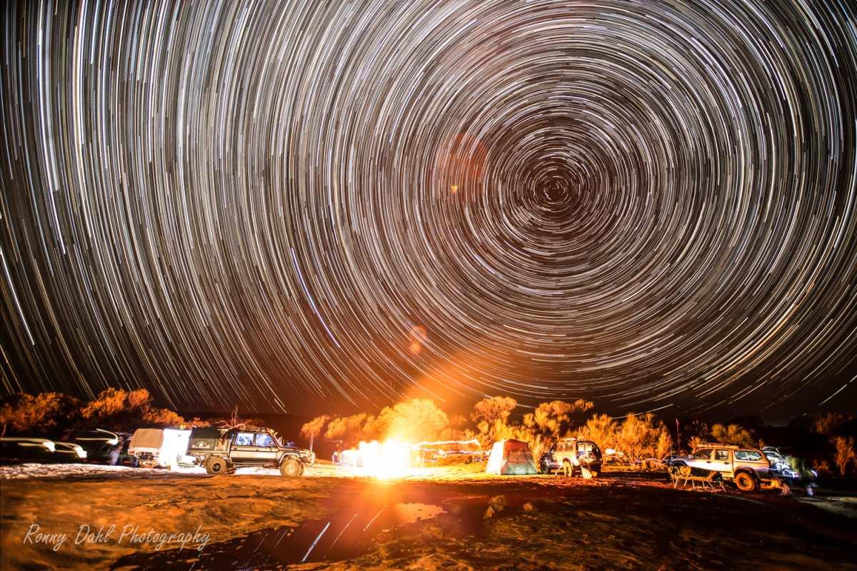 4x4 Camping, night sky.
