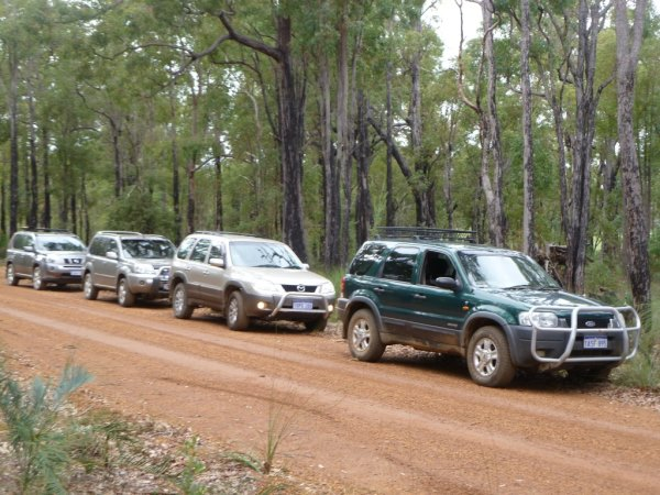 The Freedom All Wheel Drive Club on the gravel track.