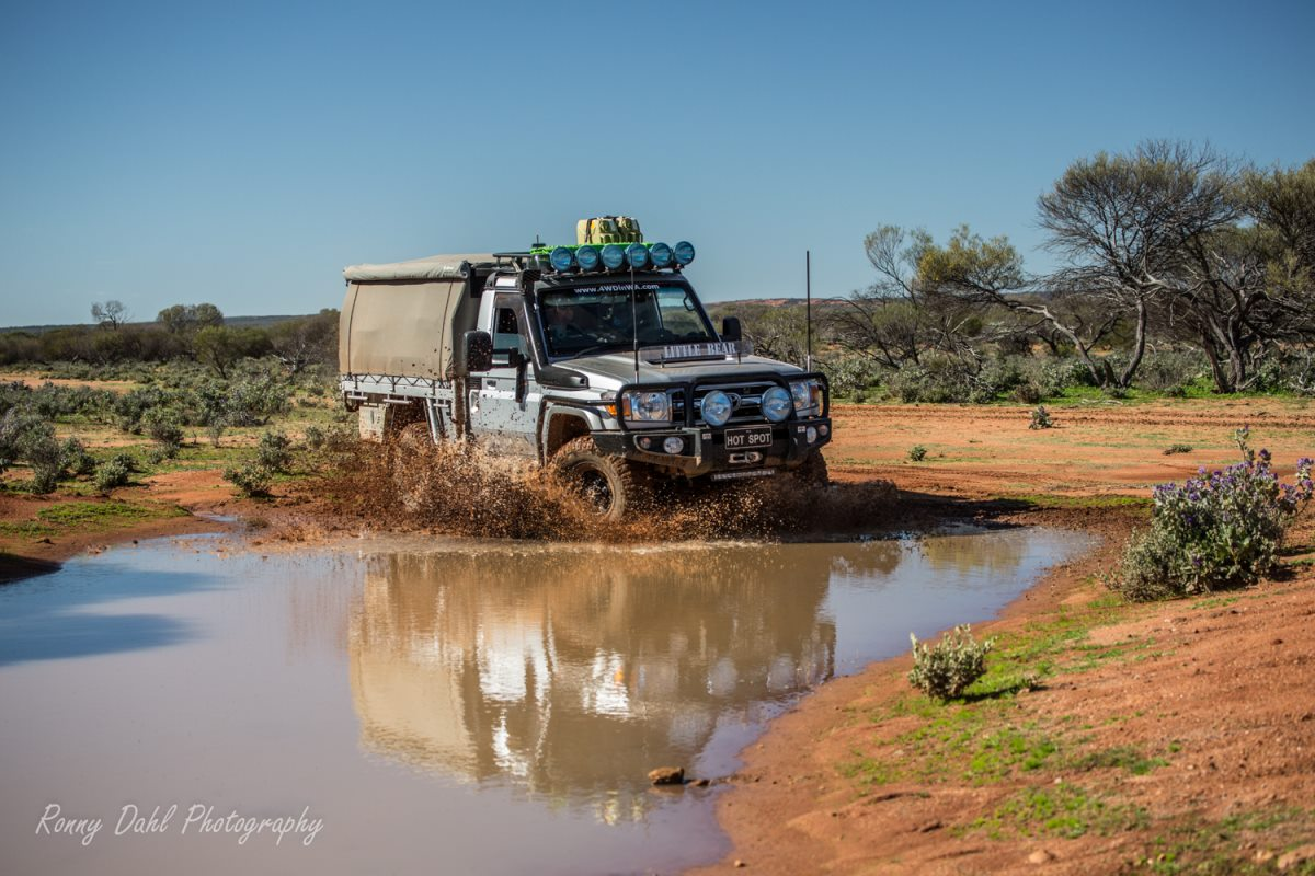 Toyota Land Cruiser in the outback.