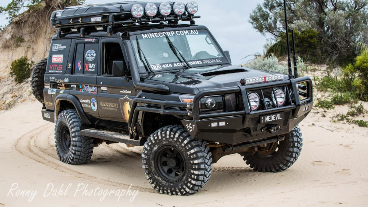 Black Knight, the fastest 76 series Land Cruiser in Australia.