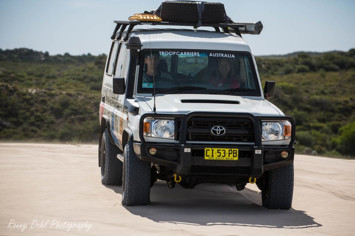 Toyota Landcruiser Troop Carrier.