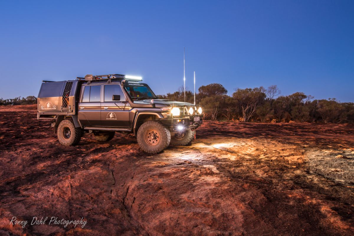 79 Series Toyota Land Cruiser kitted for both long trips and short outings.