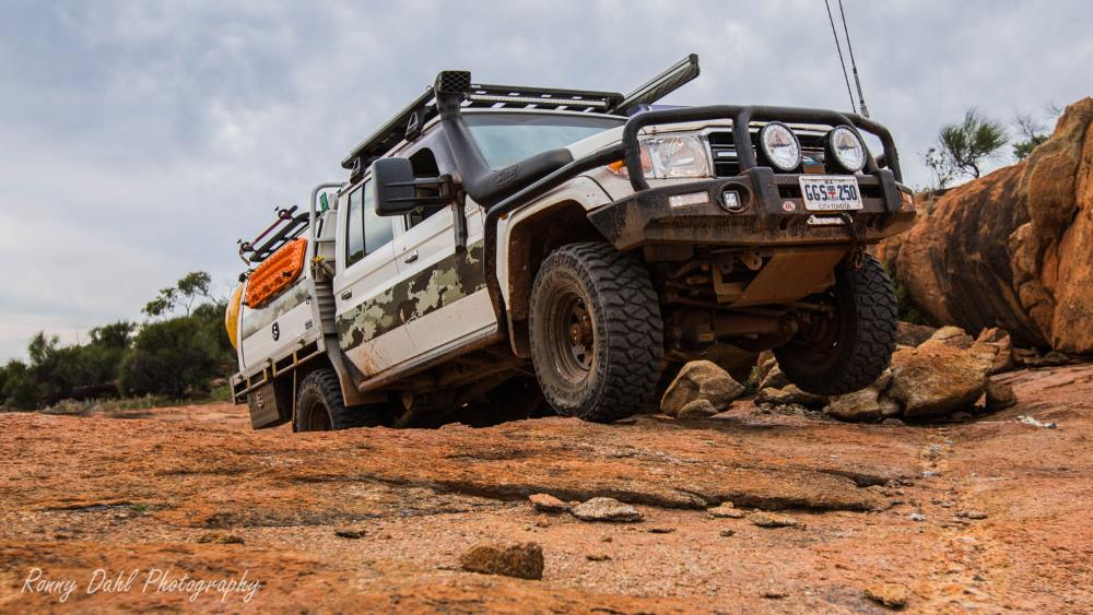 79 series Toyota Landcruiser, in the outback.