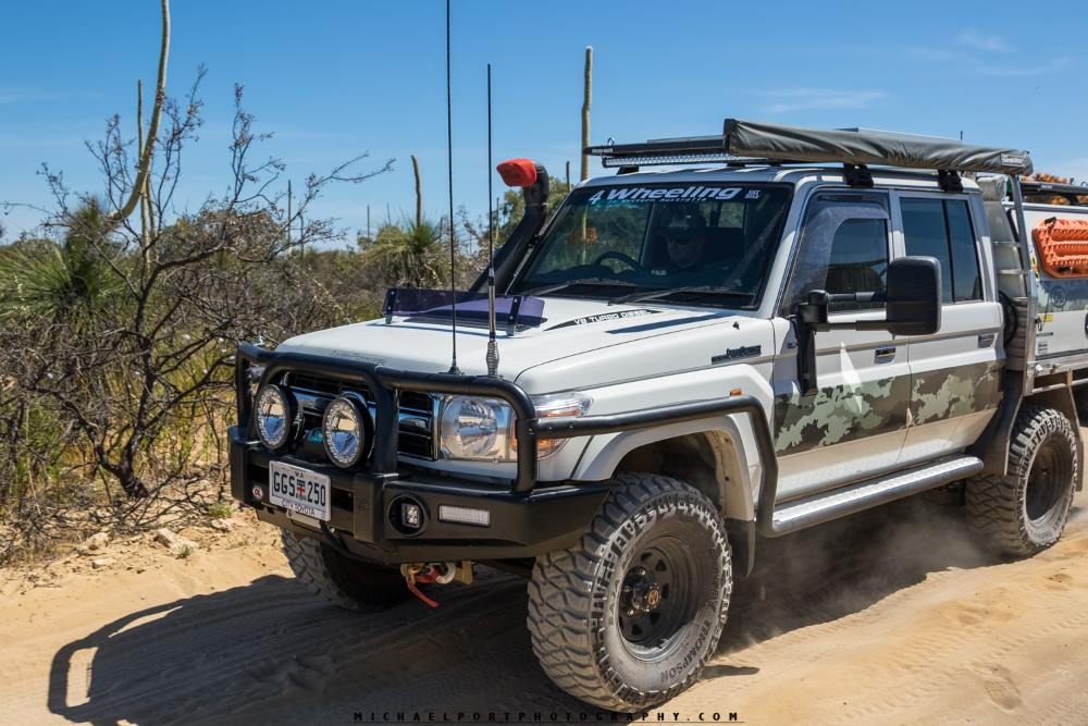 79 series Toyota Landcruiser, modified.