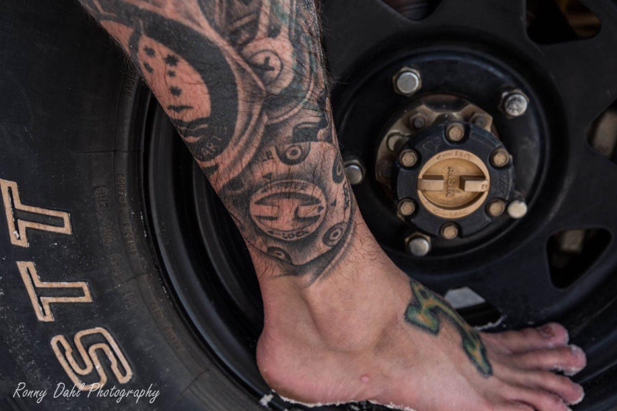 Off-road tattoo.