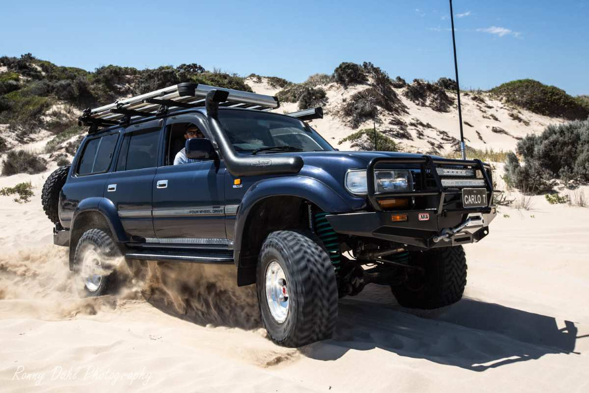 V8 Toyota 80 series Land Cruiser, modified.