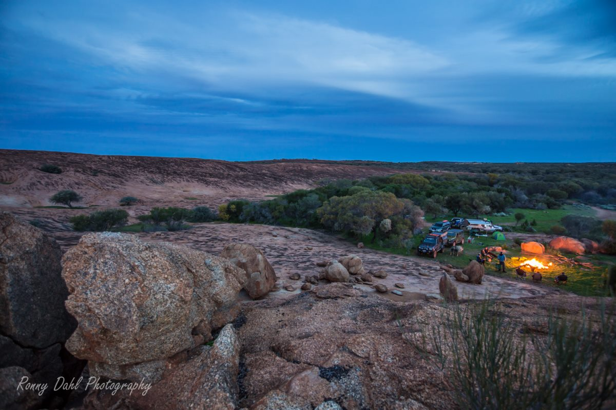 Campsite in the Outback, Western Australia.
