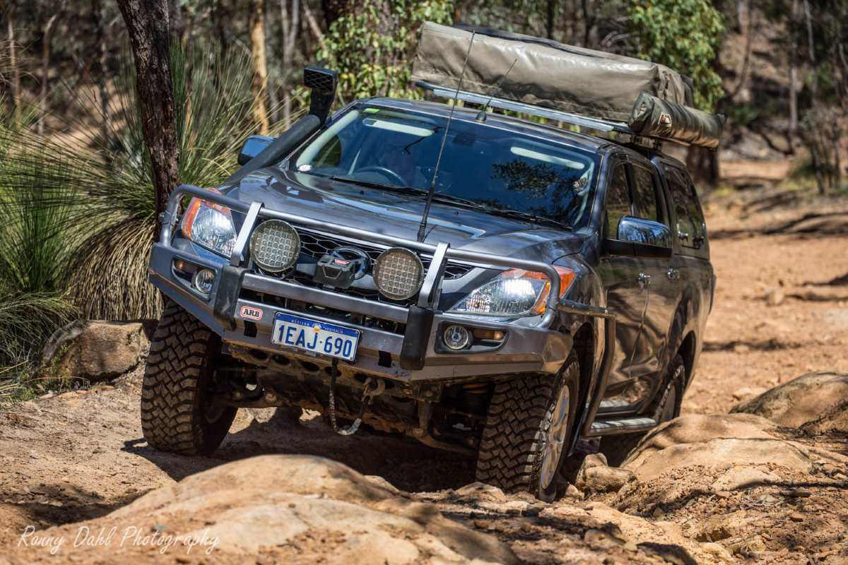 Mazda BT 50 off-road in Western Australia.
