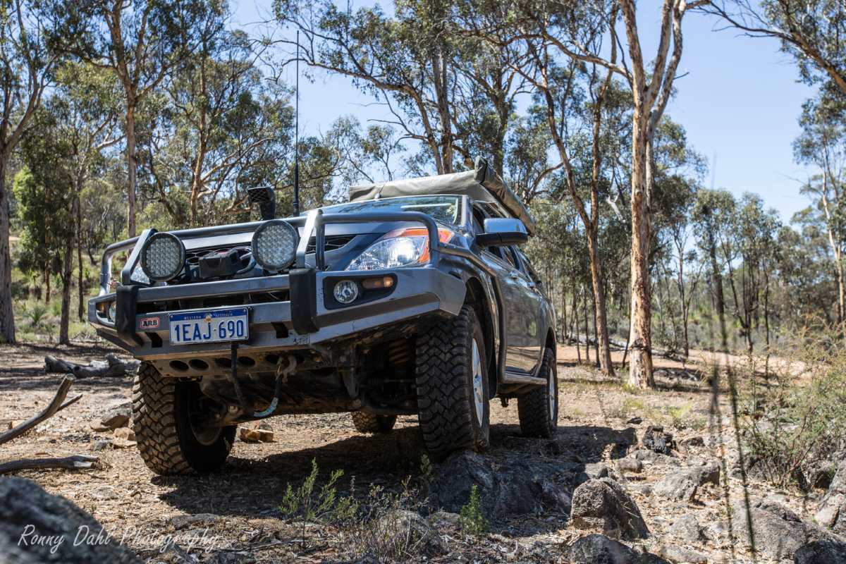 Mazda BT 50 Modified and with roof top tent.