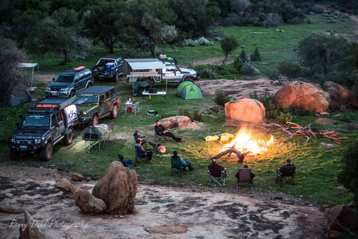 Camping in the Western Australia outback.