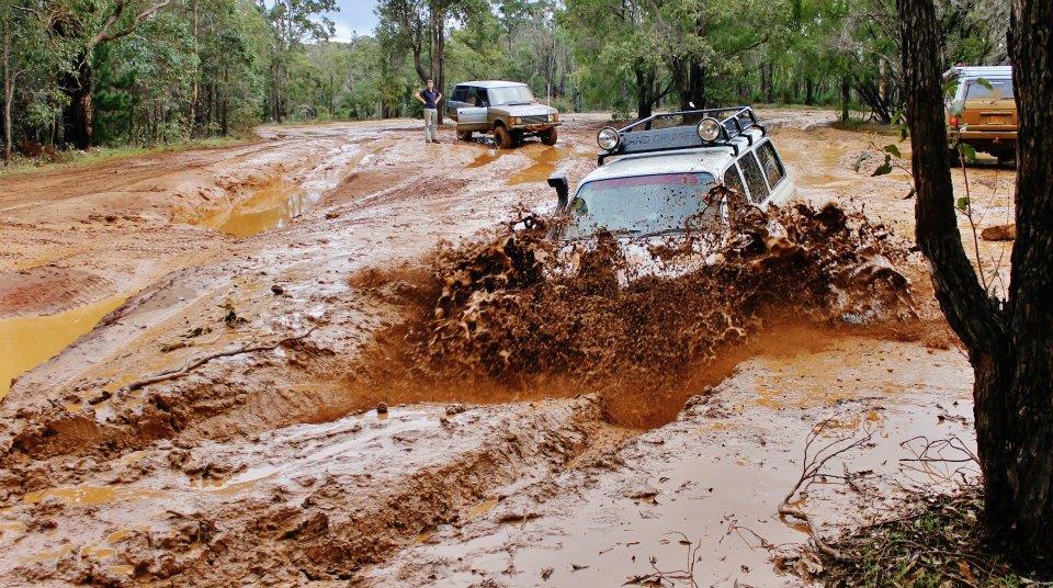 80 Series Landcruiser in mud.