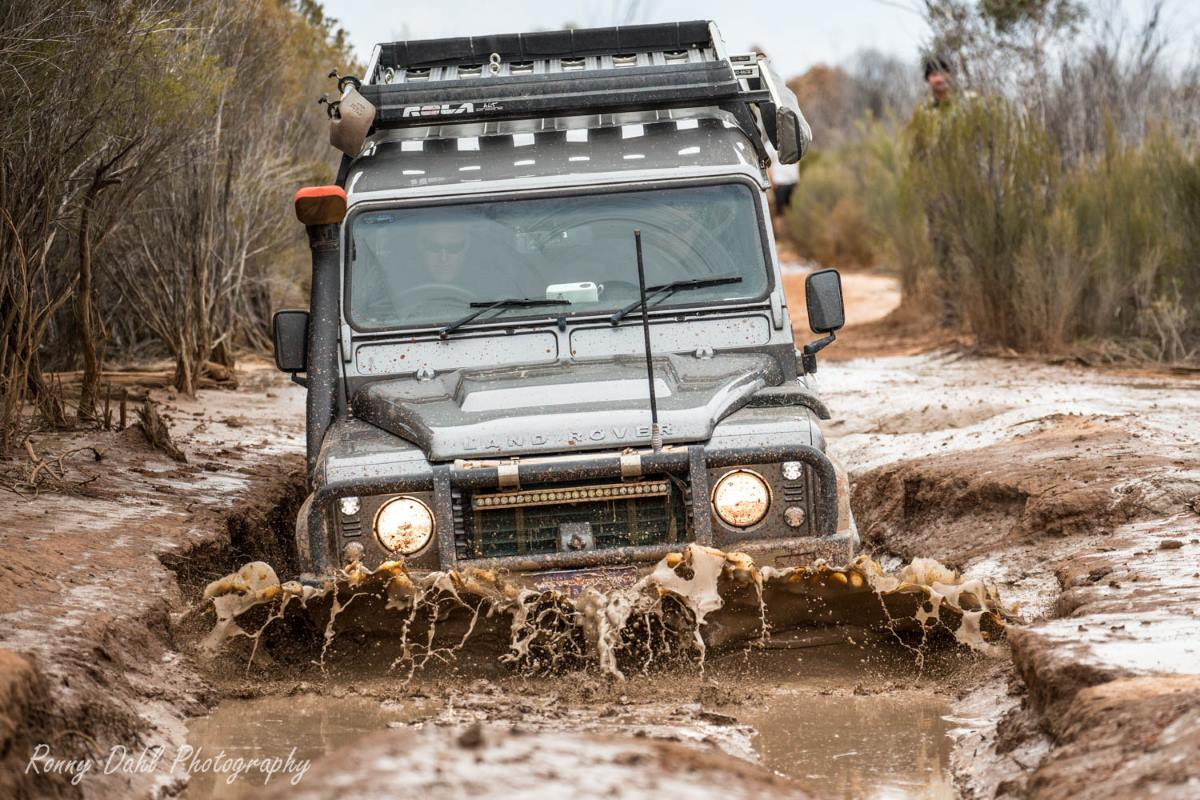 Land Rover Defender on the Holland Track, Western Australia.