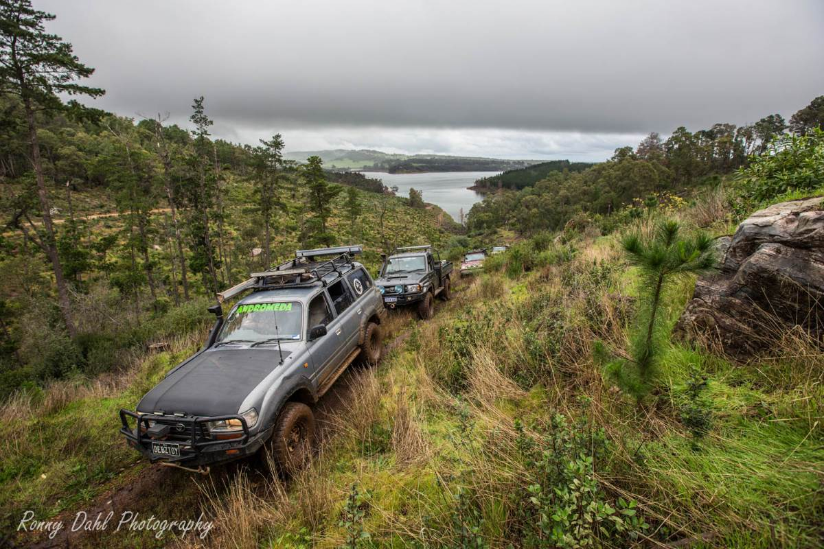 80 Series Landcruiser at Harvey Dam, Western Australia.