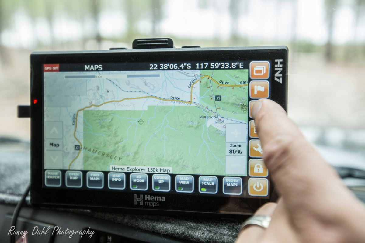 Hema off-road navigation.