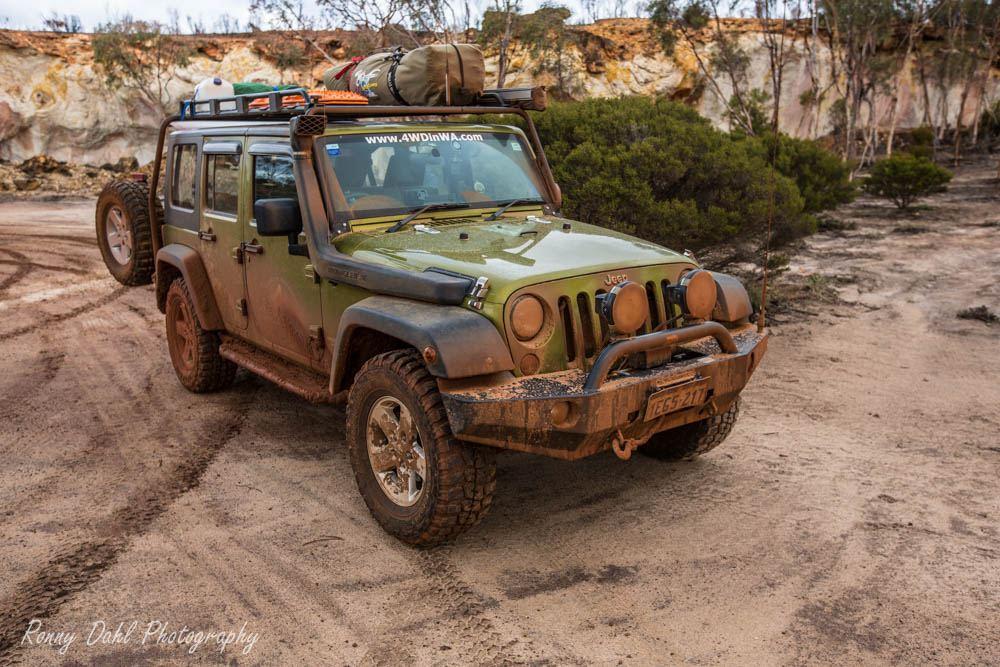 Jeep JK Wrangler in the outback. Western Australia.