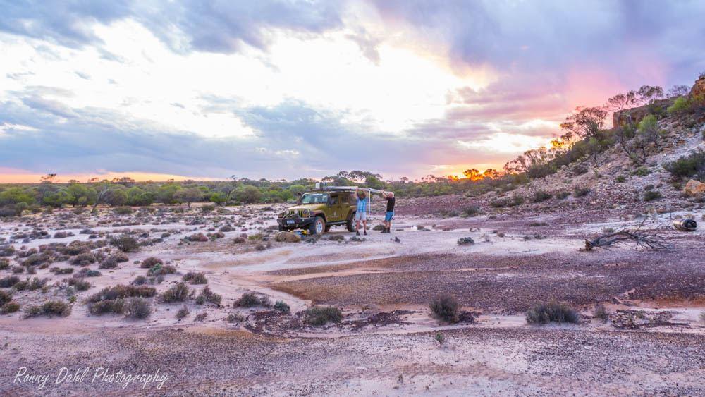 Jep Wrangler JKU in the outback, Western Australia.