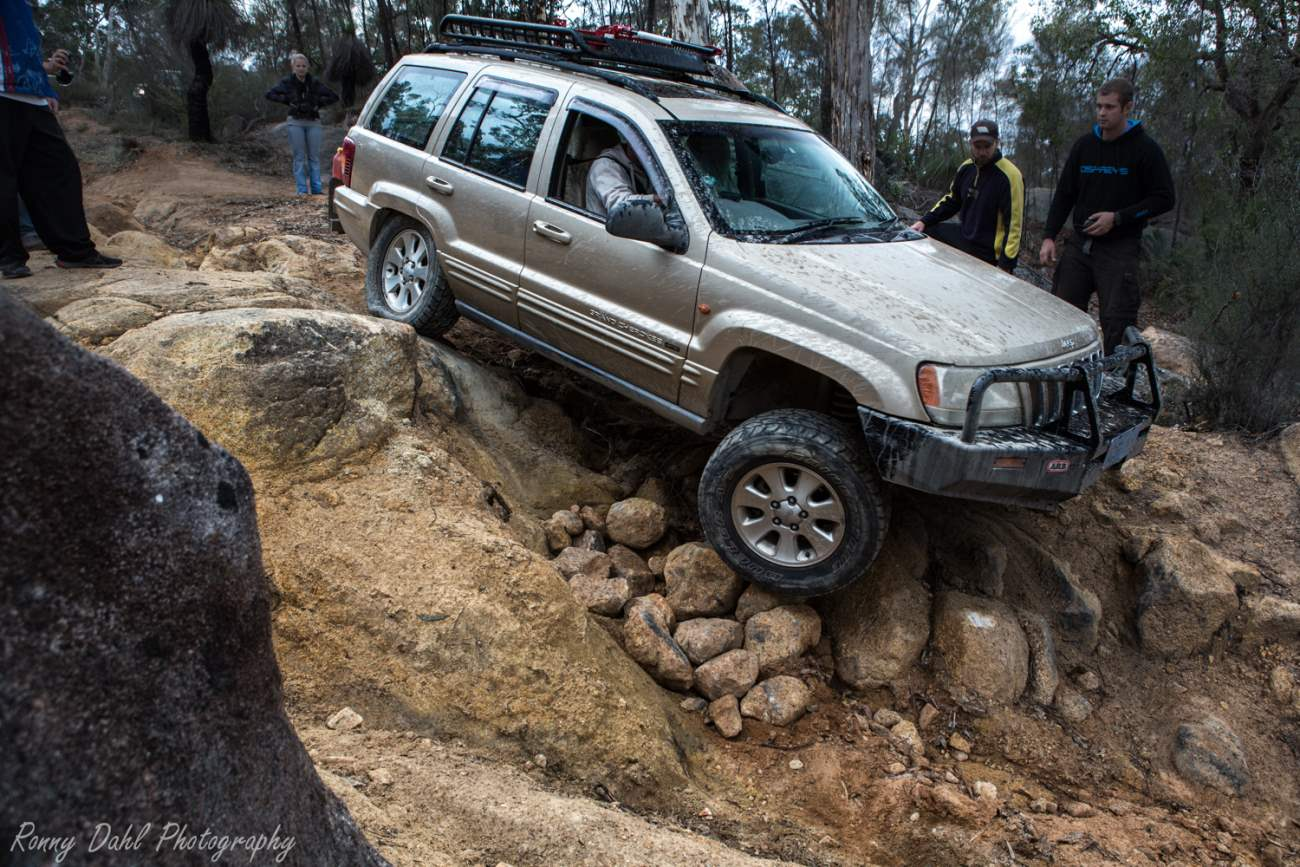 Jeep Cherokee Rock Crawling.