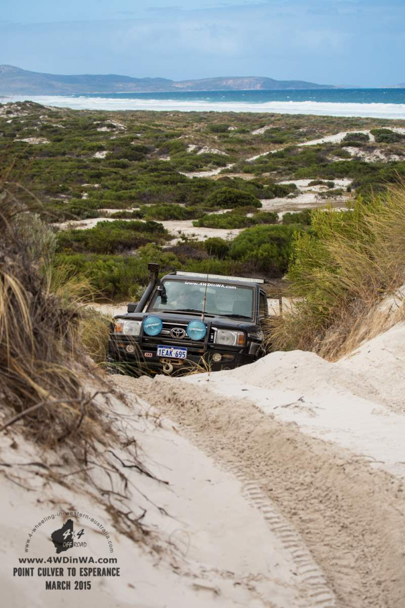 Toyota Land Cruiser at Hammer Head, Western Australia.