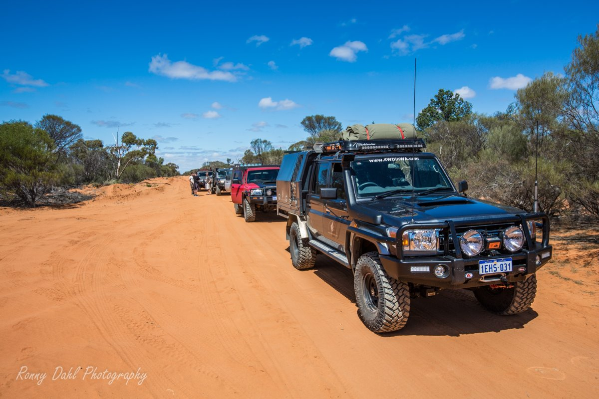 On the track at Murchison Off-Road Adventure Park.