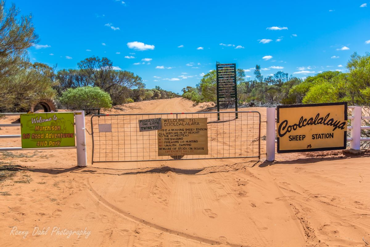Front gate at Murchison Off-Road Adventure Park.