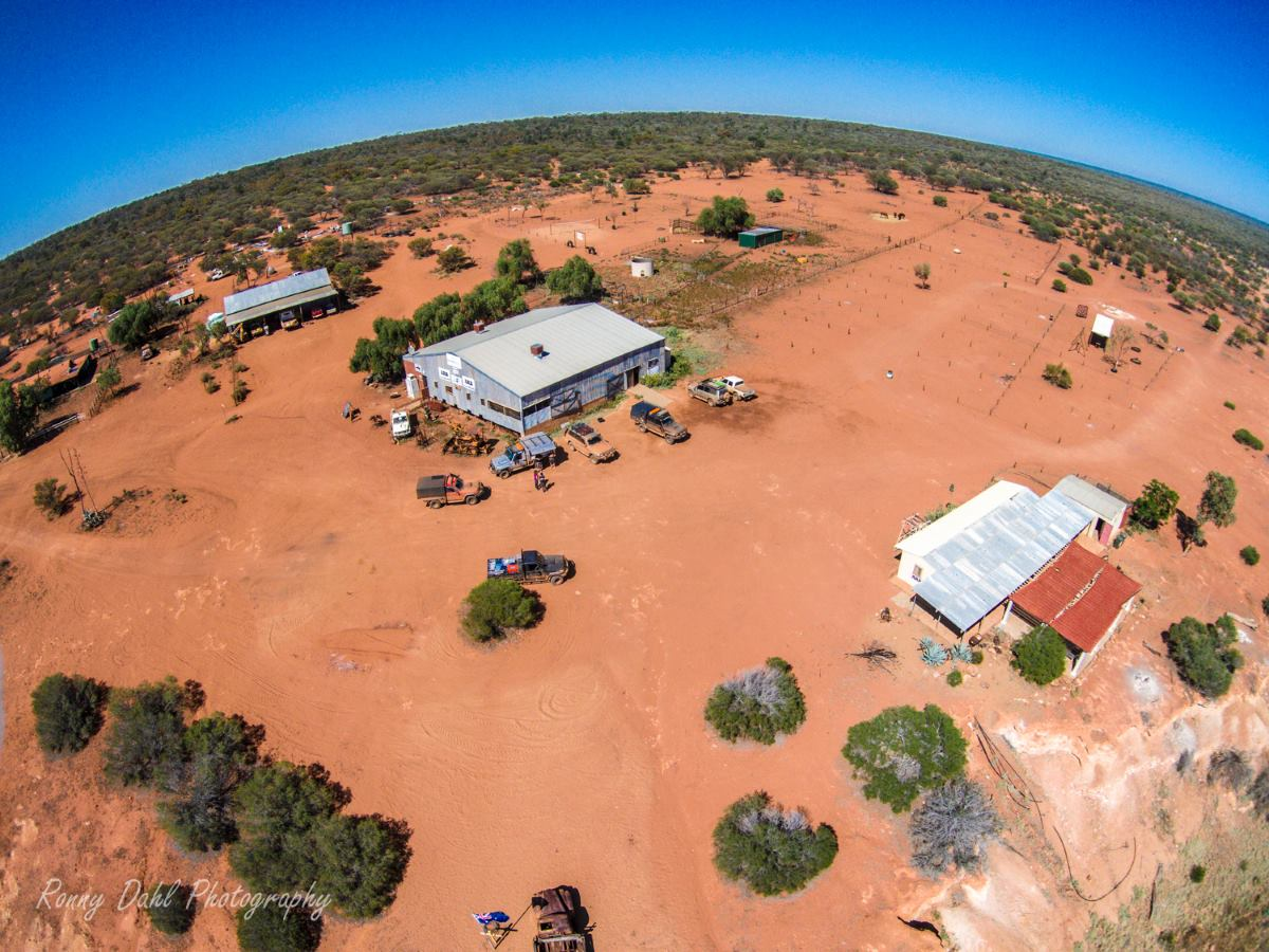 Murchison Off-Road Adventure Park, Western Australia. Photo from the air.