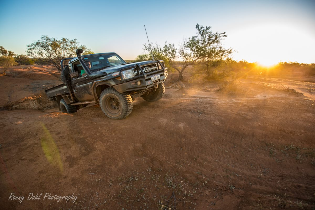 Toyota Land Cruiser in the Outback WA.
