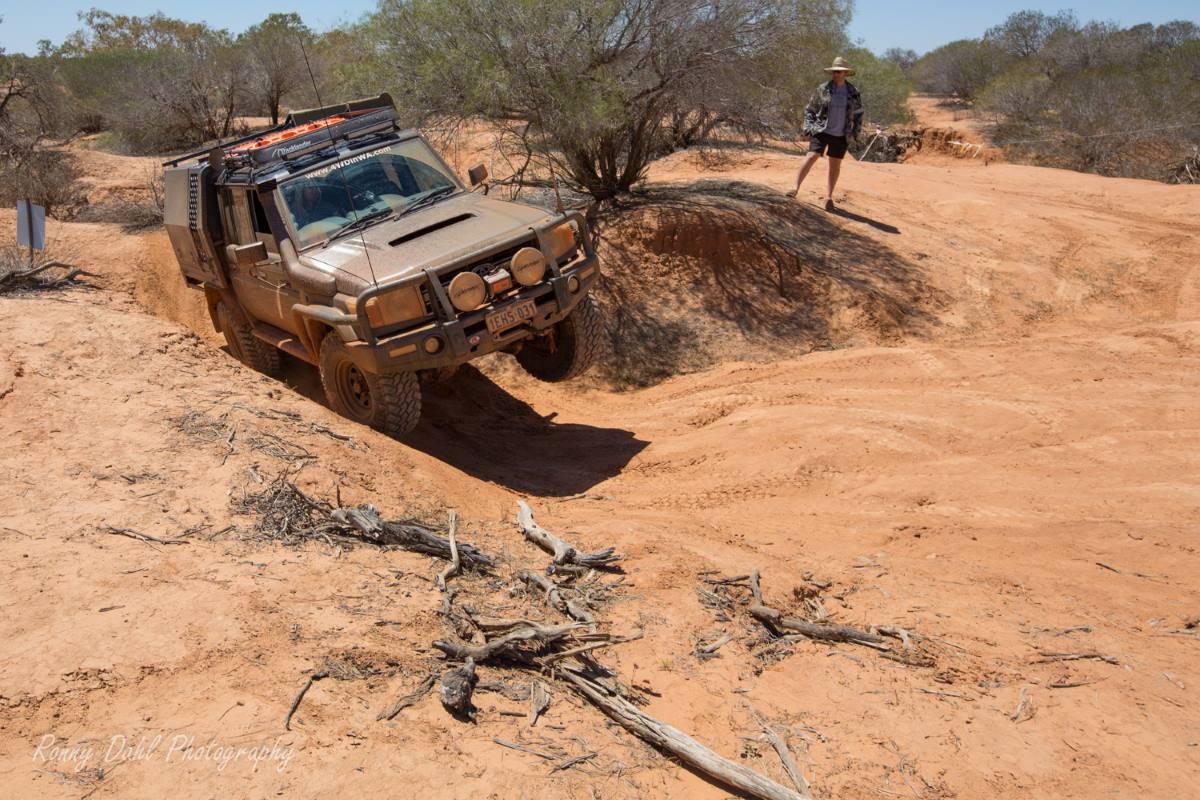 Toyota 79 Series LandCruiser in the Australian Outback.