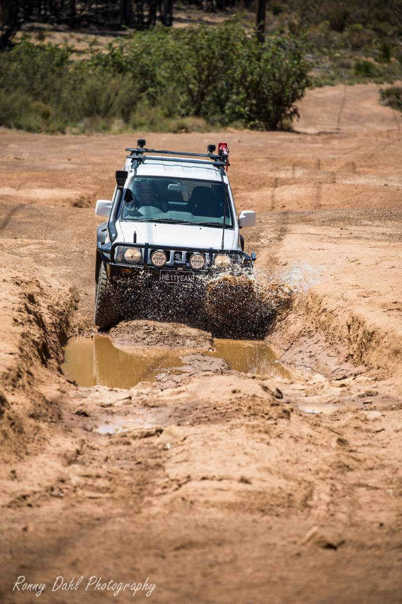 Suzuki Jimny 4x4. in the mud.