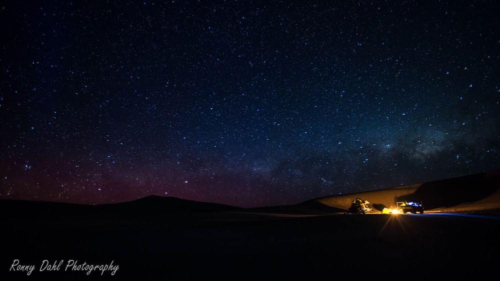Stars & Southern lights, on the south coast of Western Australia.