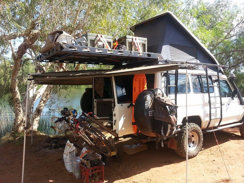 The Troopy fully loaded.