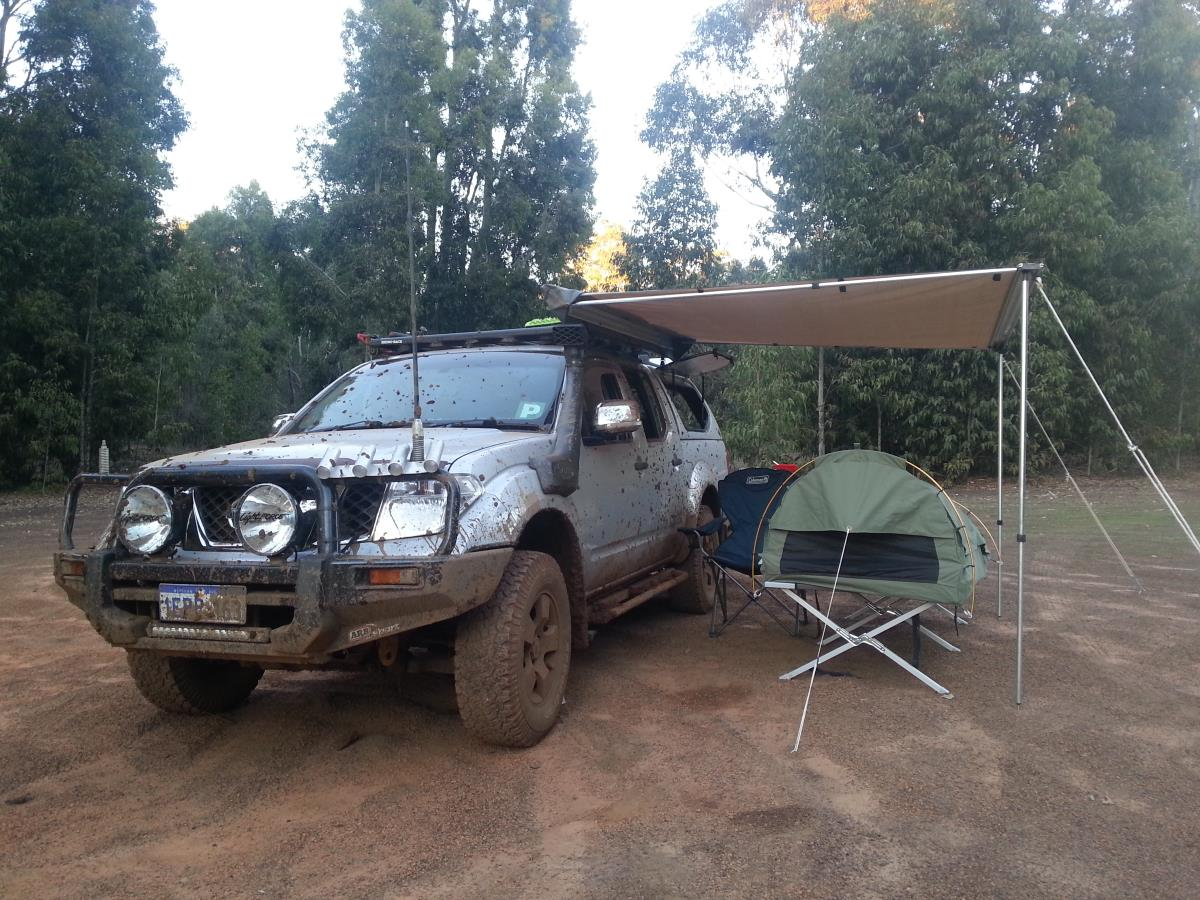 Camping in the Nissan Navara.