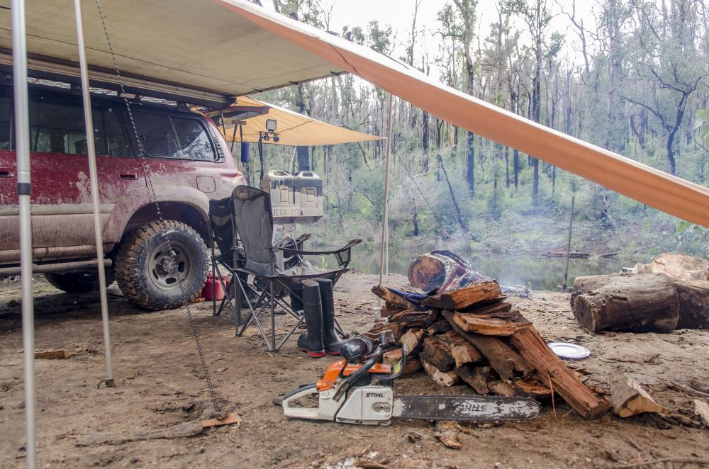 Camping with a Toyota Landcruiser 80 series Sahara.