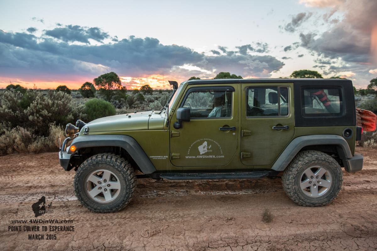 Jeep Wrangler @ Sunset, Western Australia.