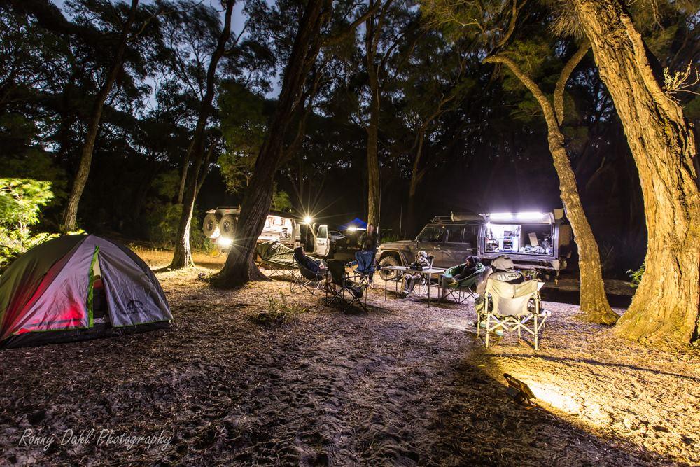 Night camp.