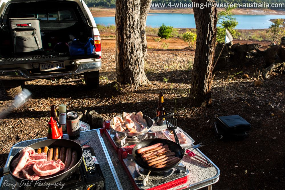 Cooking Camping Food.