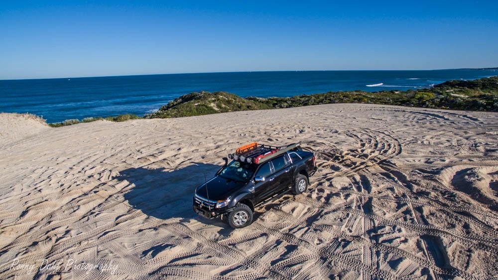 Ford Ranger XLT on the beach.